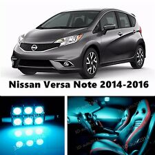 8pcs LED ICE Blue Light Interior Package Kit for Nissan Versa Note 2014-2016