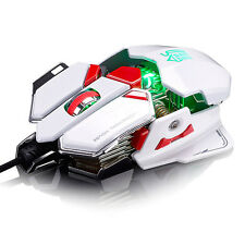 Hot Coole 4000DPI 10D Buttons LED Optical Wired Gaming Mouse Für Pro PC Gamer