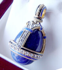 SALE !  GORGEOUS PENDANT HANDMADE OF STERLING SILVER 925 with GENUINE LAPIS