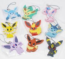 Pokemon Center Pokemon Time Rubber Strap LEAFEON Charm Keychain
