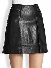 AUTH Tory Burch Fae Leather Skirt in Size 4 NWT