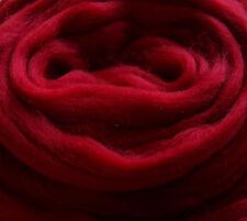 Soft Merino Wool Roving/Top,Dark Ruby Red, for felting/dreads/handspinning/fibre