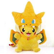 "9""New Pokemon Center Mega Tokyo Happy Pikazard Pikachu Charizard Plush Toys Doll"