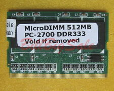 512MB X1 MicroDIMM for FUJITSU Lifebook P7000 P7010 P7016 ST502 PC2700 US RAM 07