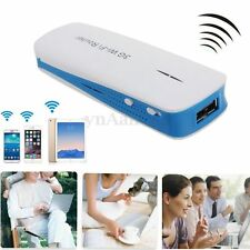 5in1 Portable Mini 3G WIFI Mobile Wireless USB Router Hotspot 1800mAh Power Bank