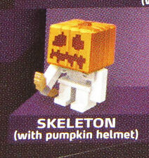 Sealed SKELETON Pumpkin Helmet MINECRAFT Obsidian Series 4 Mini-Figure Single Pk