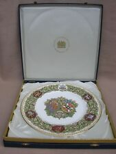 ROYALTY MINTON ARMORIAL PORCELAIN PLATE LIMITED EDITION IN PRESENTATION BOX