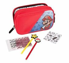 SUPER MARIO NINTENDO 3DS 3DSXL DS DSXL STARTER SET KIT CASE CLOTH STYLUS NEW