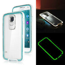 LED Incoming Call Flash PC Silicone Case Cover For Samsung Galaxy S5 i9600