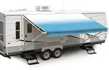 "20' Sky Blue Fade w/Wht W/G, RV Patio Awning Repl. fabric canopy (Fabric:19'2"")"
