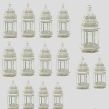 "15 Moroccan Style Lantern Creamy White Candleholder Wedding Centerpiece 12"" Tall"