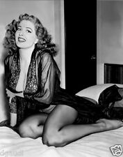 1959 Tempest Storm Pinup in Black negligee  8 x 10 Photograph