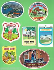 #D13.  14  OLD AUSTRALIAN NSW SOUVENIR STICKERS