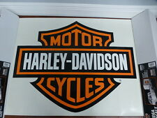 Harley-Davidson Bar & Shield Extra Large Trailer Decal Sticker Orange NEW