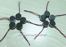 10pcs Pager and Cell Phone Coin Flat Vibrating Micro Motor With Two Leads s885