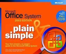 Office 2003 Plain & Simple (BPG-Plain & Simple), Jerry Joyce Moon, Marianne