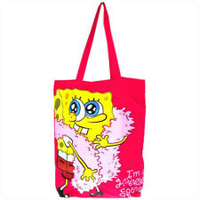 Genuine SpongeBob 'Happy Sponge' Cotton Tote Shopping Bag Travel Bag Gym Beach