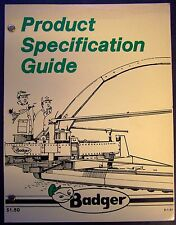 Badger Full Line Product Specification Guide - 1981