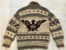 Authentic VTG 1960s VANCOUVER ISLAND COWICHAN SHAWL COLLAR WOOL LEBOWSKI SWEATER
