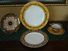 VERSACE BAROCCO 5 PIECE PLACE SETTING PLATES CUP TEA SET DINNER NEW RETAIL $700