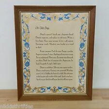 Vintage Quote On This Day Mend a Quarrel Search out a Forgotten Solid Wood Frame