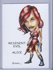 ALICE ** RESIDENT EVIL ** TRADING CARD ART by RAK ** HAND SIGNED NEAR MINT