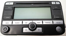 1K0035191D Original VW Touran PASSAT GOLF CD Radio NAVI Blaupunkt MP3 No Code