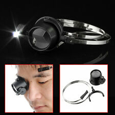 15x Led Magnifier Hands-Free Eye Loupe JEWELRY Repair Wrap Around Head Band