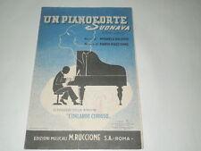 SPARTITI MUSICALE -UN PIANOFORTE SUONAVA MUSICA DI MARIO RUCCIONE.