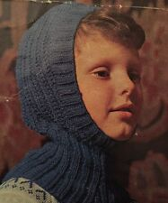 Knitting Pattern For Kids DK Wooly Balaclava Helmet Hat - Children's