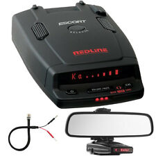 Escort RedLine Dual-Antenna Radar Detector + Car Mirror Mount Bracket Kit