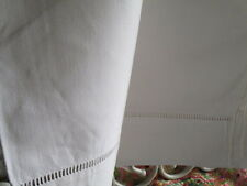 Vintage French Good Quality Cotton Sheet with Ladder-work jours