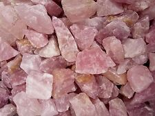 Rose Quartz Natural Rough Crystal Chunks -  250g