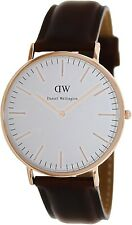 Daniel Wellington Men's Classic St. Andrews 0106DW Brown Leather Quartz Watch