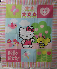 "1 Hello Kitty ""Patch"" Wallhanging/Lap Quilt Panel  Fabric"