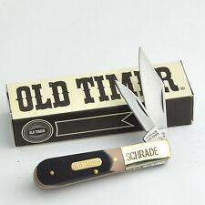 Schrade Old Timer Barlow Sawcut Delrin Handle Folding Pocket Knife 280OT