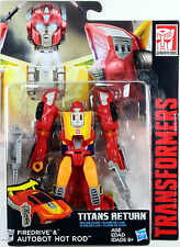 Transformers Deluxe Class ~ Autobot HOT ROD w/FIREDRIVE ~ Titans Return