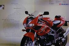 SUZUKI TL1000S TL1000 S 2 Page Color Motorcycle Ad 1997