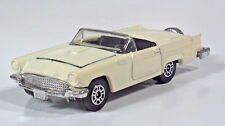 "Vintage 1980 Corgi 1957 Ford Thunderbird T-Bird 2.75"" Scale Model Cream White"