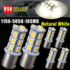 6x Car RV Trailer Natural White 1156 BA15S 5050 18SMD Backup LED Light Bulb 7503