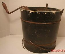 Vintage Ice Cream Maker Deluxe 2 Quart Old Antique Parts Does Not Work Crank