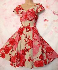 BNWOT Ted Baker 'Cherry Blossom' Silk Occasion Dress 12 (Ted size 3) - Exquisite