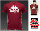 NEW Kappa Logo T-Shirt Authentic Burgundy Red Mens Cotton Crew Neck Tee Top S-XL