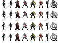 32 Marvel Avengers Superhero Stand Up Edible Rice Wafer Paper Cupcake Toppers