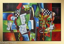 Modern abstract Large canvas NO frame hand-paint Oil Painting wall Art decor