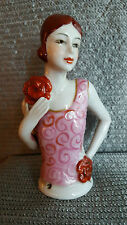 "Superb Art Deco Vintage Style 1920's Young ""Flapper"" Lady ~Half Pin Cushion Doll"