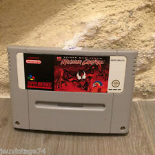 Maximum Carnage Spiderman Super nintendo snes PAL en loose SNSP-AMCP-EUR Tested