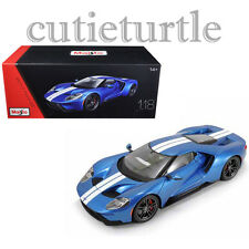 Maisto 2017 Ford GT 1:18 Diecast Model Exclusive Edition 38134 Blue with Stripes
