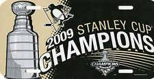 PITTSBURGH PENGUINS 2009 Cup Champs NHL Plastic License Plate 12 x 6 Wincraft