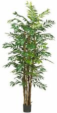 Nearly Natural 5250 Bamboo Palm Silk Tree- 7-Feet- Green NEW